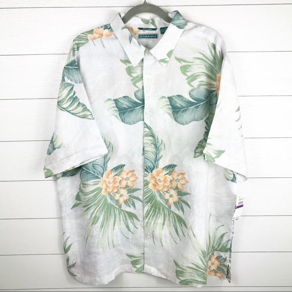 f3446ace7 Cubavera Shirts | 100 Linen Short Sleeve Hawaiian Shirt | Poshmark